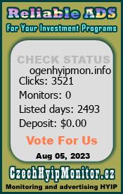 ogenhyipmon.info & czechhyipmonitor.cz