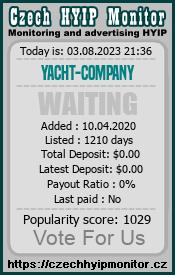yacht-company.com monitoring by czechhyipmonitor.cz